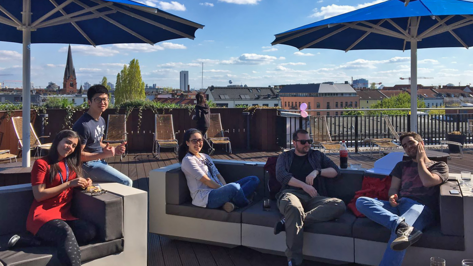The institute's rooftop terrace with a wonderful view over Berlin