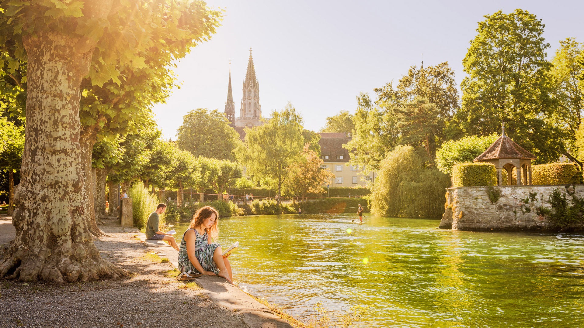 Summer, sun and leisure activities at Lake Constance