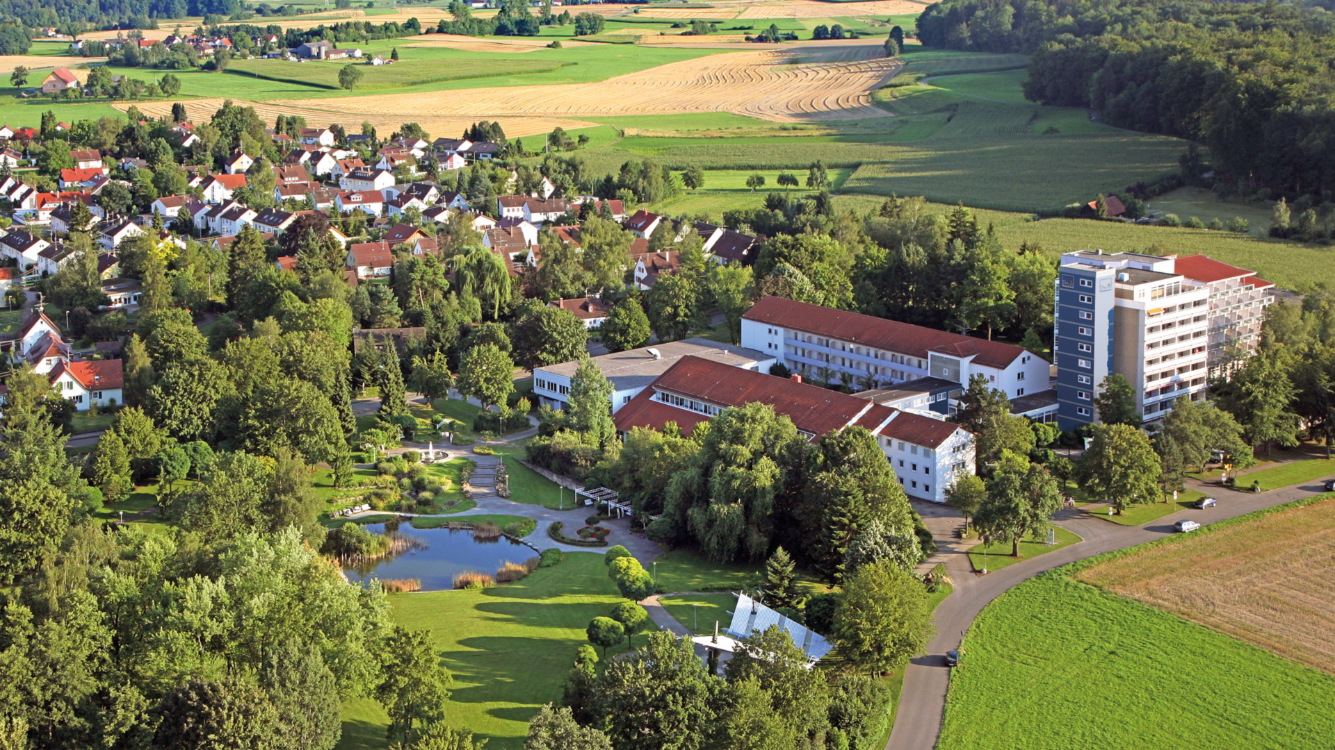 "The ""Lake Campus"" Bad Schussenried seen from above"