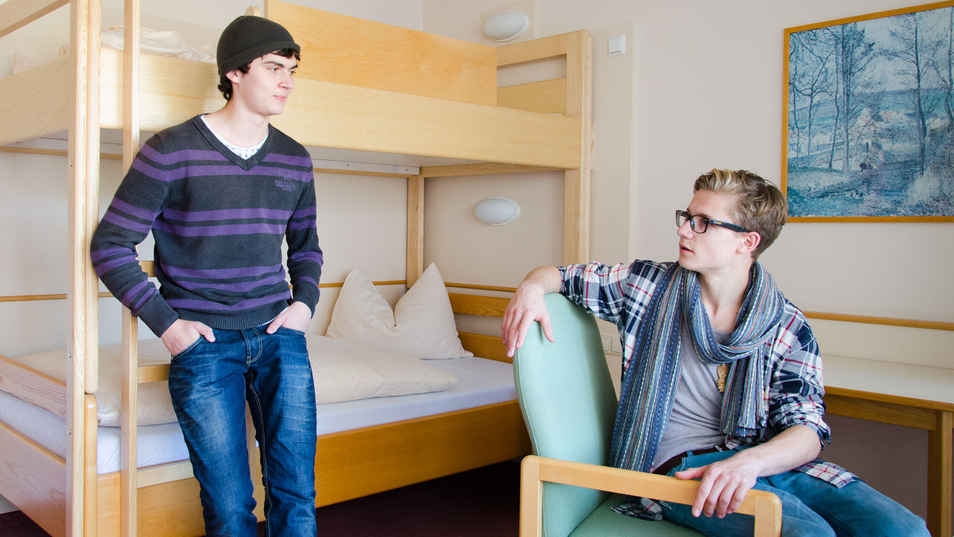 Accommodation: An example of a twin room in Bad Schussenried
