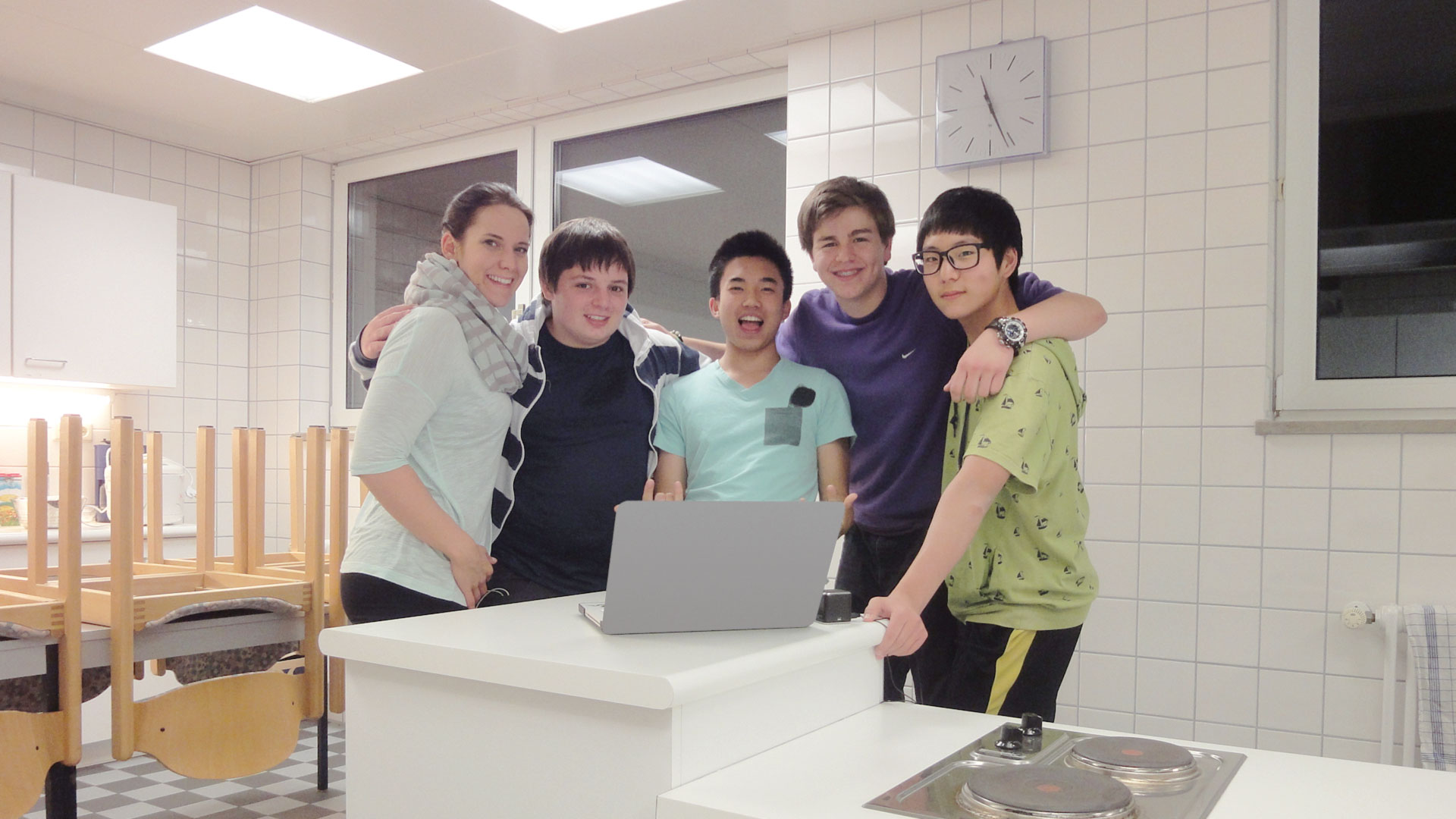 Students cook and bake in the experimental kitchen