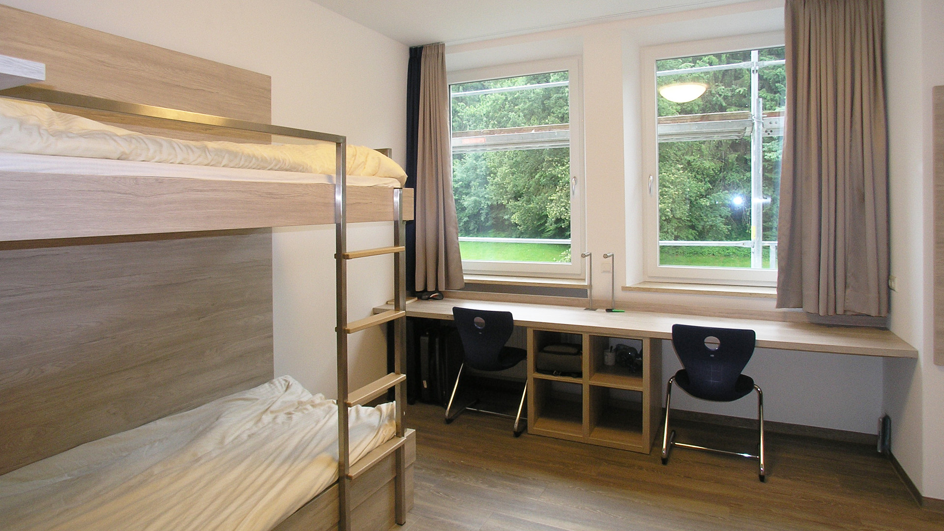 Accommodation: Example of a twin room in Lindenberg